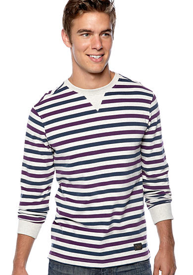 Ben Sherman® Marl Stripe Crew Neck Shirt
