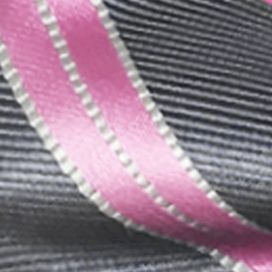 Mens Ties: Striped: Charcoal Susan G. Koman Knots for Hope Stripe Bow Tie