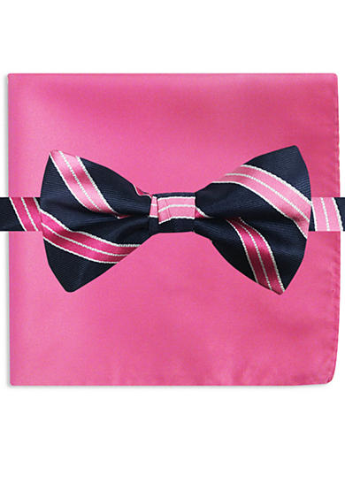 Susan G. Koman Knots for Hope Stripe Bow Tie