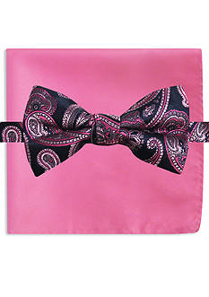 Susan G. Koman Knots for Hope Printed Paisley Bow Tie