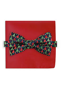 Holiday Ties by Hallmark Tree Printed  Pre-Tied Bow Tie