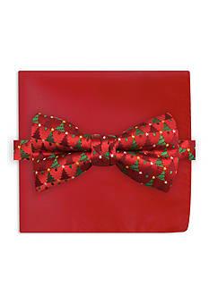 Holiday Ties by Hallmark Tree Printed Pre-Tied Bow Tie