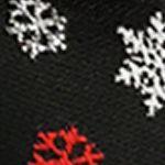 Black Tie: Black Holiday Ties by Hallmark Snow Flake Pre-Tied Bow tie