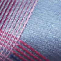 Mens Ties: All Neckties: Medium Blue Susan G. Koman Knots for Hope Grid Bow Tie