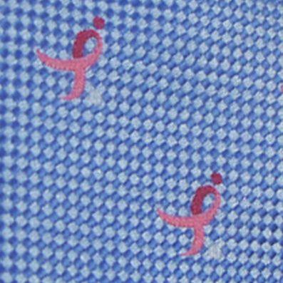 Black Tie: Medium Blue Susan G. Koman Knots for Hope All Over Ribbon Tie