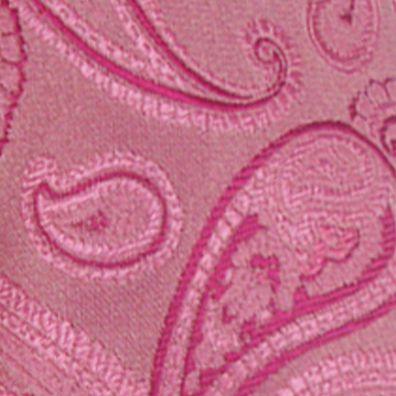 Mens Ties: Paisley & Formal: Pink Susan G. Koman Knots for Hope Paisley Tie
