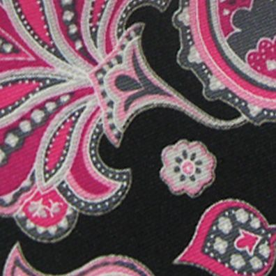 Black Tie: Black Susan G. Koman Knots for Hope Printed Paisley Tie