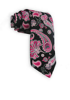 Susan G. Koman Knots for Hope Printed Paisley Tie