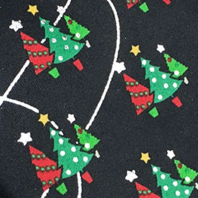 Men: Novelty Sale: Black Holiday Ties by Hallmark Metallic Christmas Tree Tie