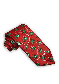 Holiday Ties by Hallmark Metallic Christmas Tree Tie