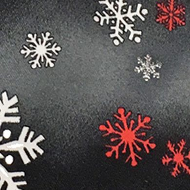 Black Tie: Black Holiday Ties by Hallmark Snowflake Tie