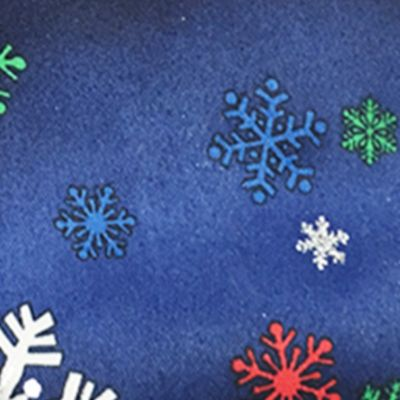 Black Tie: Blue Holiday Ties by Hallmark Snowflake Tie