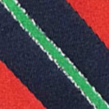 Mens Ties: Striped: Navy Hallmark Holiday Traditions Candy Cane Stripe Tie