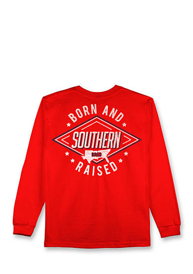 Hybrid™ Southern Born & Raised Long Sleeve Graphic Tee