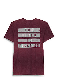 Well Worn Short Sleeve Too Tired To Function Graphic Tee