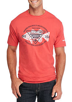 Columbia PFG Short Sleeve Freddy Logo Fish Graphic Tee