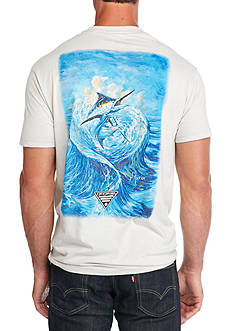 Columbia PFG Short Sleeve Thomas Marlin Graphic Tee