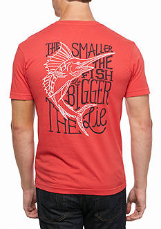 Columbia PFG® The Smaller The Fish, The Bigger The Lie Short Sleeve Graphic Tee