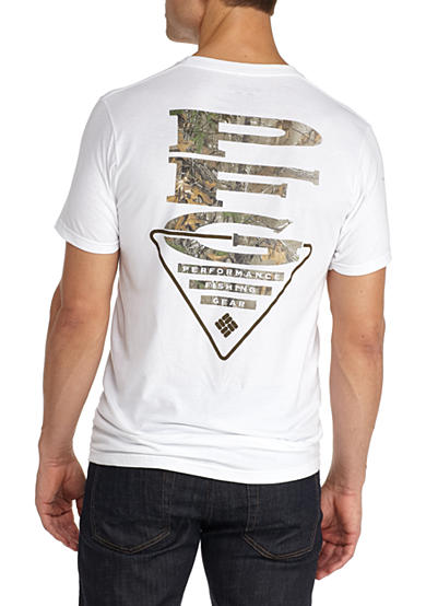 Columbia PFG Triangle Camo Short Sleeve Graphic Tee