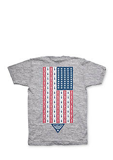 Columbia Short Sleeve Americana Fish Flag Tee