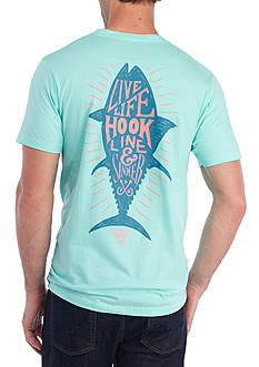 Columbia Short Sleeve PFG Clay Graphic Tee - Live Life Hook Line & Sinker