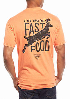 Columbia PHG Short Sleeve Bast Eat More Fast Food Humor Graphic Tee