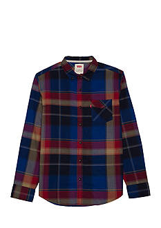 Levi's Long Sleeve Morton Oxford Plaid Shirt