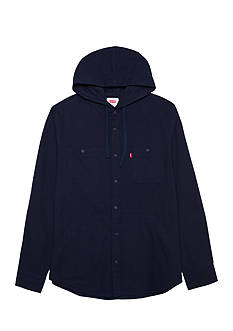 Levi's Long Sleeve Hooded Deuces Flannel Shirt