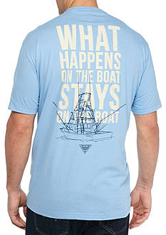 Columbia Big & Tall On The Boat Short Sleeve Graphic Tee