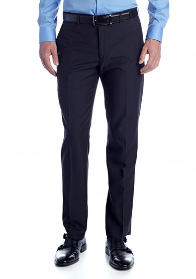 Buffalo David Bitton Trim Fit Suit Separate Flat Front Pant