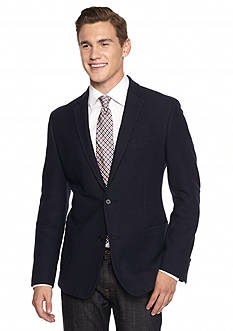 Buffalo David Bitton Slim-Fit Navy Knit Blazer
