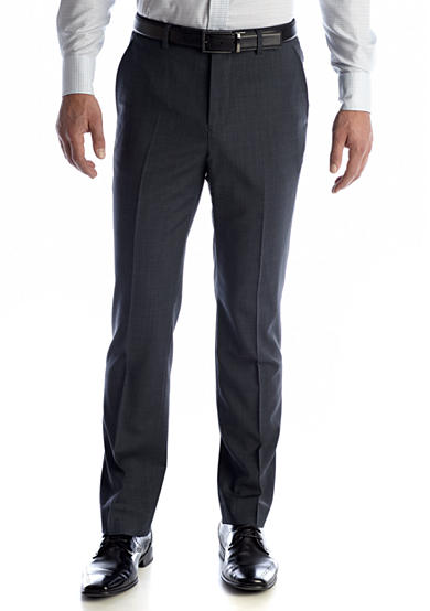 Nautica Classic Fit Wrinkle Resistant Blue Screen Pants