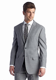 Nautica Wrinkle Resistant Gray Herringbone Suit Separate Coat