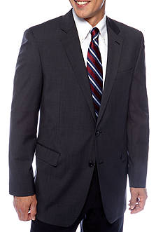 Nautica Classic Fit Charcoal Tic Suit Separate Coat