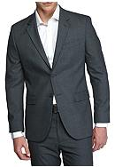 Nautica Modern-Fit Windowpane Suit Separate Coat