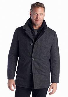 Nautica Wool Blend Herringbone Coat
