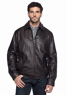 Nautica Big & Tall Leather Bomber Jacket