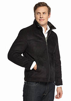 Nautica Big & Tall Faux Shearling Zip Front Coat