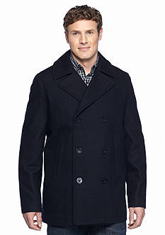 Nautica Big & Tall Wool Blend Peacoat