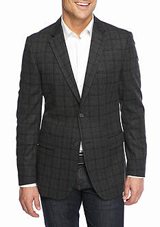 Nautica Classic Fit Plaid Sport Coat