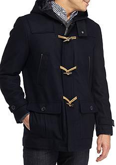 Nautica Wool-Blend Hooded Toggle Coat