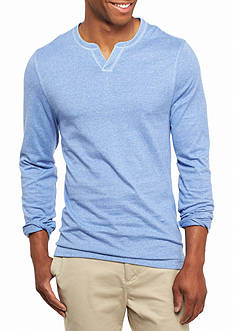 Ocean & Coast Long Sleeve Jaspe Split Neck Shirt