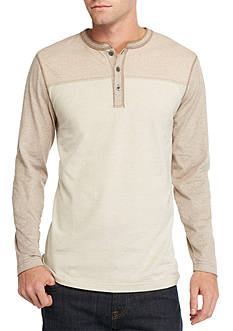 Ocean & Coast Long Sleeve Colorblock Henley Shirt