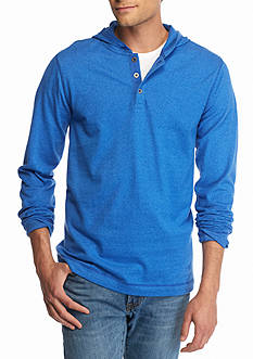 Ocean & Coast Long Sleeve Jaspe Hood Henley Shirt