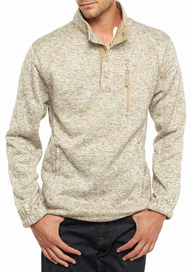Ocean & Coast® Fleece Mock Neck Sweater