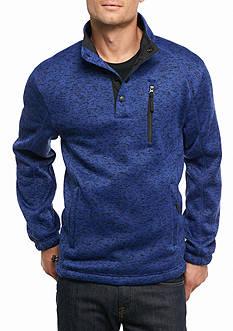 Fleece Mock Neck Sweater