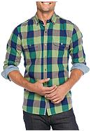 Ocean & Coast® Long Sleeve Plaid Brushed