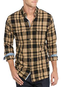Ocean & Coast Long Sleeve Plaid Brushed Twill Shirt