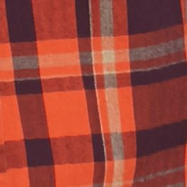 Ocean & Coast Men Sale: Plum Orange Ocean & Coast Long Sleeve Plaid Brushed Twill Shirt