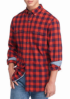 Ocean & Coast Long Sleeve Brushed Twill Check Shirt